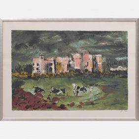 John Piper (1903-1992) Carew Castle, Silkscreen,