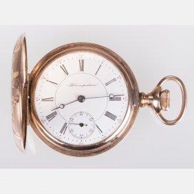 A Hampden Gold Plated Pocket Watch, 20th Century,