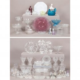 A Miscellaneous Collection Of Pressed And Molded Glass