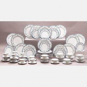 A Royal Doulton Porcelain Dinner Service For Twelve In