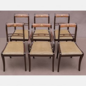 A Set Of Six Regency Style Mahogany Chairs, 20th