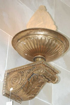 Pair Of French Empire Bronze Wall Sconces