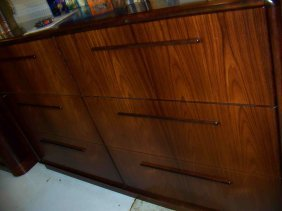 Pair Of Rosewood Horizontal File Cabinets