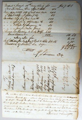 1846 JUDGEMENT W/ SETTLEMENT BY SLAVE LEVY