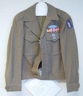 WWII U.S. IKE STYLE UNIFORM - 8 RIBBONS