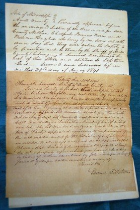 LOT OF 5 1830's-50's MISSISSIPPI LAWSUITS, DOCUMEN