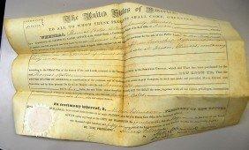 1851 MILLARD FILLMORE SIGNED LAND DEED