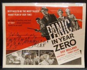 Panic In The Year Zero (1962) Half Sheet