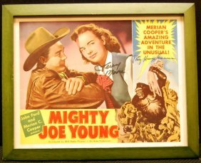Autographed Movie Card For Mighty Joe Young