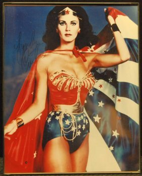 Autographed Picture Of Lynda Carter As Wonder Woma