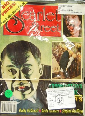 Lot Of 12 Scarlet Street Magazines