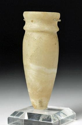 Egyptian Alabaster Miniature Amphora