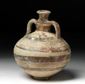 Mycenaean Twin-Handled Terracotta Vessel