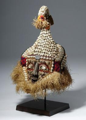 African Royal Kuba Mukenga / Mukyeem Festival Mask
