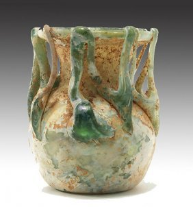Roman Glass Trailed Jar