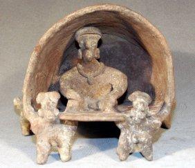 Rare Pre-Columbian Colima Litter Scene
