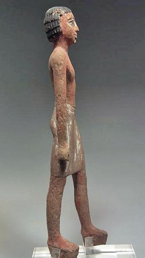 An Egyptian Wooden Statuette - Old Kingdom