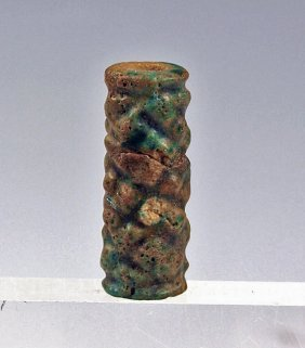 An Early Egyptian Faience Cylinder Seal