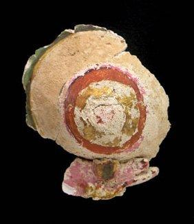 An Egyptian Polychrome / Cartonnage Breast