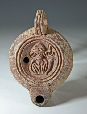 A Roman Oil Lamp Of Fortuna