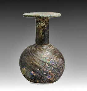 A Roman Glass Sprinkler Flask
