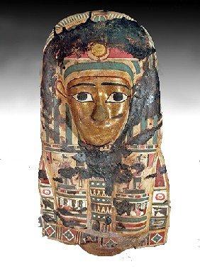 A Large Egyptian Cartonnage Mask