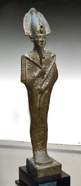 An Egyptian Bronze Osirus