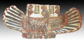 An Egyptian Cartonnage Pectoral With A Winged Isis