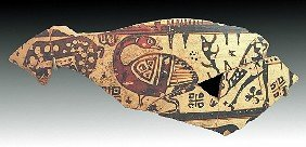 An East Greek Pottery Fragment, Wild Goat Style