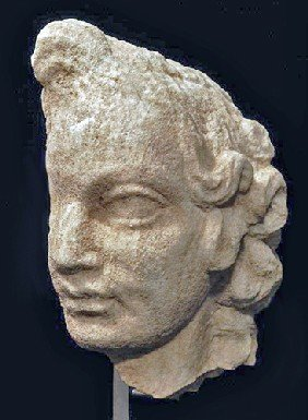 A Roman Marble Profile Head Of A Boy