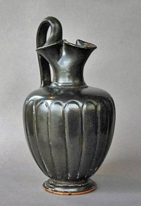A Greek Campanian Blackware Oinochoe