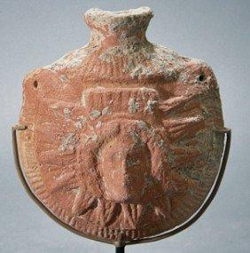 A Greek Hellenistic Pilgrim's Flask - Helios