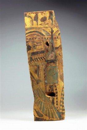 An Egyptian Wooden Sarcophagus Fragment