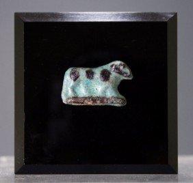 An Egyptian Faience Ram Amulet