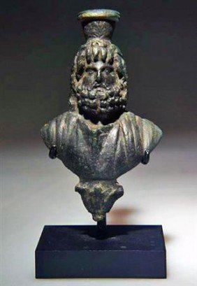 An Egyptian Bronze Bust Of Sarapis, Ex-Christie's