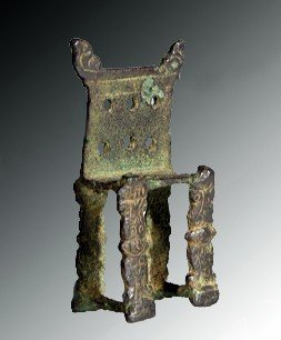 A Roman Bronze Model Of A Throne (for Jupiter)