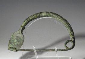 An Ancient Scythian Bronze Fibula - Large