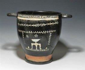 A Large Greek Gnathian Skyphos