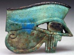 A HUGE Egyptian Faience Wedjat Eye, Ex-Bonham's