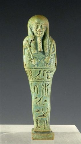 An Egyptian 26th Dynasty Faience Ushabti.