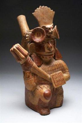 A Pre-Columbian Moche Figural Janus Jar