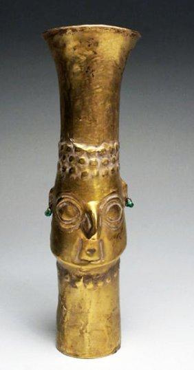 A Sican Gold Beaker - God Naylamp - 70.3g
