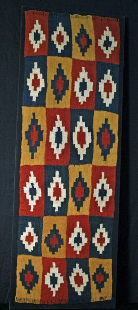 An Exceptional Nazca Textile Shawl, Ex-Christie's
