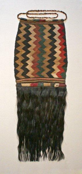 A Proto-Nazca Textile Apron With Hair Fringe