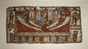 An Egyptian Cartonnage Panel -  Winged Isis