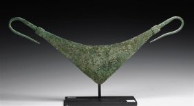A Greek Geometric Bronze Pectoral