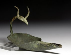 A Celtic Bronze Oil Lamp: Stag