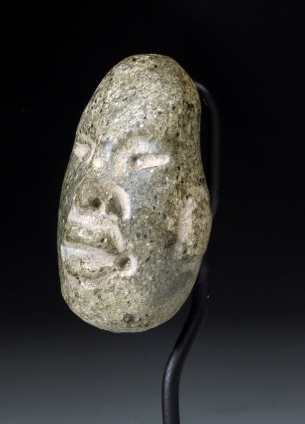 Pre Columbian Olmec Mask Pendant Carved Jadeite | eBay |Olmec Head Necklace