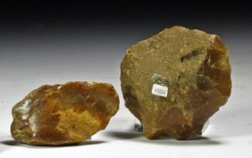 Lot Of 2 Neanderthal Stone Tools