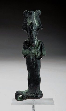 Egyptian Bronze Osiris Amulet